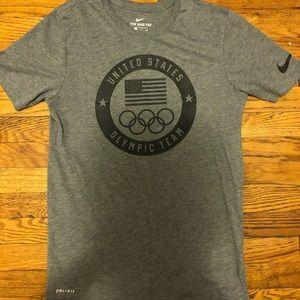 Men's Nike US Olympic Dark Grey Tee Small S